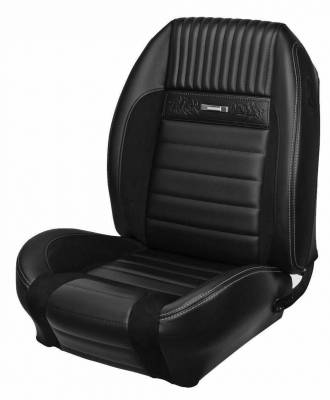 Mustang - Seat Upholstery - TMI Products - Deluxe Pony Sport R Upholstery for 1964 1/2 - 1966 Mustang All Models (Front Only)