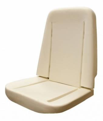 Chevelle/El Camino - Seat Foam - TMI Products - 1966 - 1972 Chevelle, El Camino Standard Bucket Seat Foam, Premium w/Wires