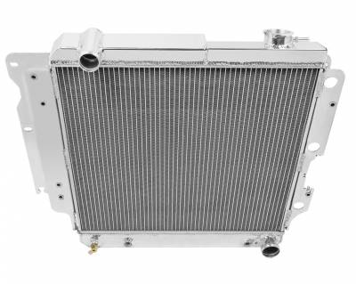 Champion Cooling Systems - Champion Four Row Aluminum Radiator for 1987-2006 Jeep Wrangler YJ with Chevy Conversion CC8101