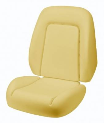 TMI Products - 1969 Camaro Coupe, Convertible Deluxe Sport Seat Bucket Seat Foam - Image 2