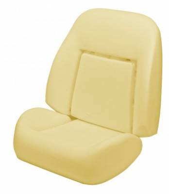 1967 - 1969  - Seat Foam - TMI Products - 1969 Camaro Coupe, Convertible Deluxe Sport Seat Bucket Seat Foam