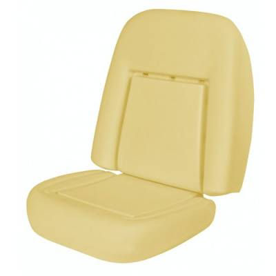 1967 - 1969  - Seat Foam - TMI Products - 1969 Camaro Coupe, Convertible Deluxe Replacement Bucket Seat Foam