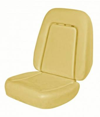 1967 - 1969  - Seat Foam - TMI Products - 1969 Camaro Coupe, Convertible Standard Replacement Bucket Seat Foam