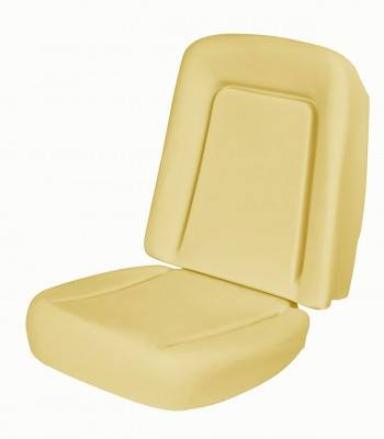 1967 - 1969  - Seat Foam - TMI Products - 1967 - 1968 Camaro Coupe, Convertible Standard Replacement Bucket Seat Foam