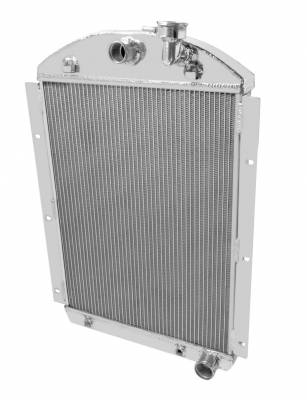 Radiators - Aluminum Radiators - Champion Cooling Systems - 1941-1946 Chevrolet Pickup Truck Champion 4 Row Core All Aluminum Radiator MC4146CH