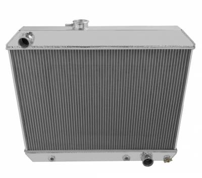 Champion Cooling Systems - Three Row All Aluminum Radiator + Fan and Relay for 1964-1965 Pontiac Tempest, GTO, LeMans CC1678
