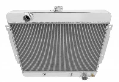 Champion Cooling Systems - Champion 3 Row Aluminum Radiator Combo for 1969 -1970 Chevy Impala, Bel Air CC345FANRLY