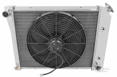 "Radiators - Aluminum Radiators - Champion Cooling Systems - Champion 3 Row Aluminum Radiator for 1965 -1987 Buick, Pontiac, Olds, Chevy w/16"" fan CC571"