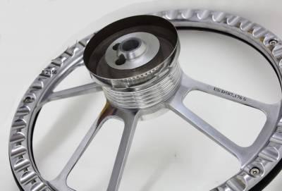 """Forever Sharp Steering Wheels - 14"""" Polished Billet and Alderwood Steering Wheel - Image 2"""