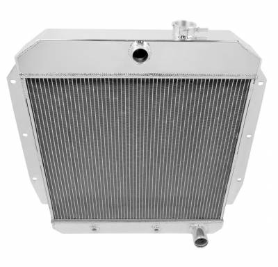 Champion Cooling Systems - Champion Four Row All Aluminum Radiator for 1955 to 1959 Chevy Pick Up MC5559