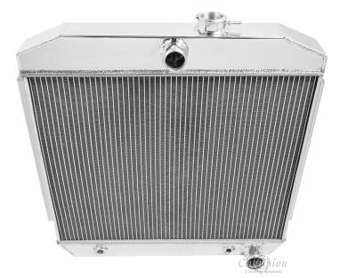 Champion Cooling Systems - Champion Cooling Four Row All Aluminum Radiator 1955 -1957 Chevy V8 MC5057