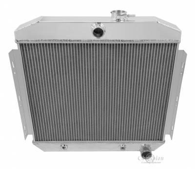Radiators - Aluminum Radiators - Champion Cooling Systems - Champion Cooling Four Row All Aluminum Radiator 1955 -1957 Chevy Inline 6 MC5056