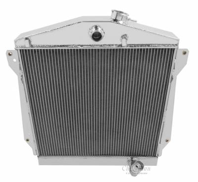 Radiators - Aluminum Radiators - Champion Cooling Systems - Champion 3 Row Aluminum Radiator for 1943-1948 Chevy Cars CC4348