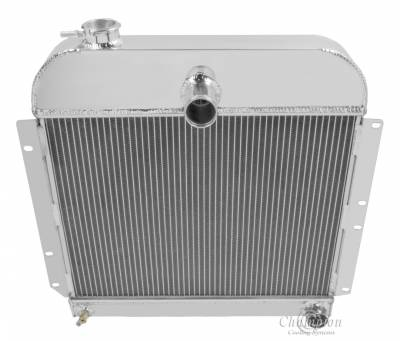 Champion Cooling Systems - Champion 3 Row Aluminum Radiator for 1941 - 1952 Plymouth Cars CC4152