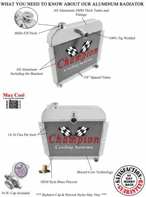 Champion Cooling Systems - Champion 3 Row Aluminum Radiator for 1941 - 1952 Plymouth Cars CC4152 - Image 3