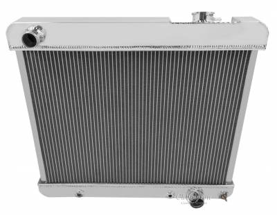 Radiators - Aluminum Radiators - Champion Cooling Systems - Champion 3 Row Aluminum Radiator for 1967 - 1970 Mustang, Maverick, Comet with Straight Six Engines CC329