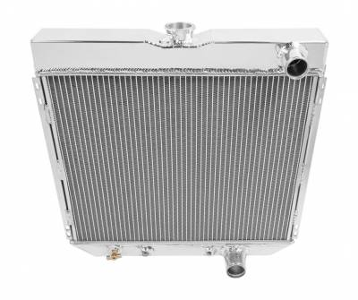 Champion Cooling Systems - Champion Four Row Aluminum Radiator for 1963 to 1970 Ford Mustang, Cougar, Fairlane MC340