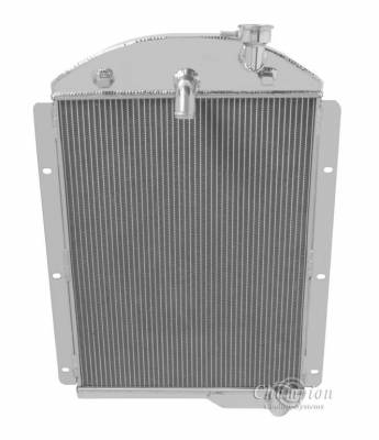 Radiators - Aluminum Radiators - Champion Cooling Systems - 1941-1946 Chevrolet Pickup Truck Champion 3 Row Core All Aluminum Radiator CC4146