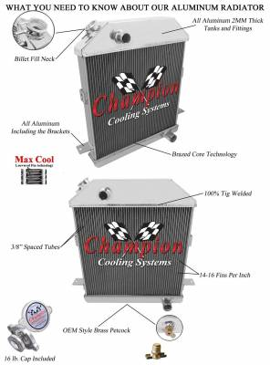 Champion Cooling Systems - 1939 - 1941 Ford/Mercury with Chevy Configuration CC4001CH - Image 3