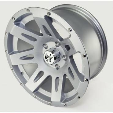 Exterior - Wheels - Rugged Ridge - Set of Four XHD Aluminum Wheels, Silver, 17 inch X 9 inches