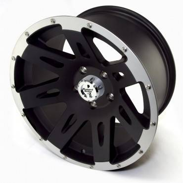Exterior - Wheels - Rugged Ridge - Set of Four XHD Aluminum Wheels, Black Satin with Machined Lip, 17 inch X 9 inches Fits 07 - 09 Wrangler