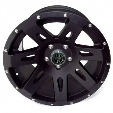 Exterior - Wheels - Rugged Ridge - Set of Four XHD Aluminum Wheels, Black Satin, 17 inch X 9 inches Fits 07 - 09 Wrangler