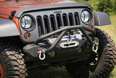 Offroad - Bumpers & Tire Carriers - Rugged Ridge - Double X Striker, Black, 76-86 CJ, 87-14 Jeep Wrangler (YJ,TJ,JK)