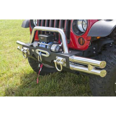 Offroad - Bumpers & Tire Carriers - Rugged Ridge - Tube Ends, XHD Modular Front Bumper, Stainless Steel Fits 07 -14 Wrangler