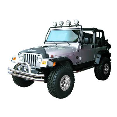 Offroad - Lighting - Rugged Ridge - Full Frame Light Bar, Black, 97-06 Jeep Wrangler (TJ)