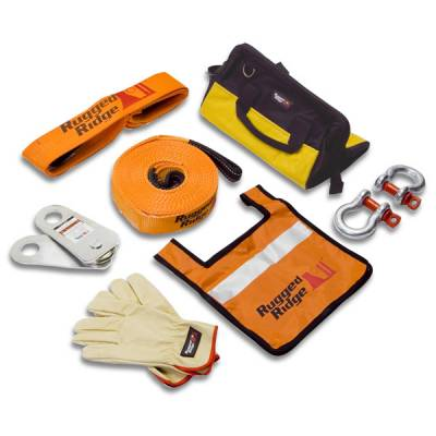 Exterior - Accessories - Rugged Ridge - XHD Recovery Gear Kit, 20,000 Pounds by Rugged Ridge