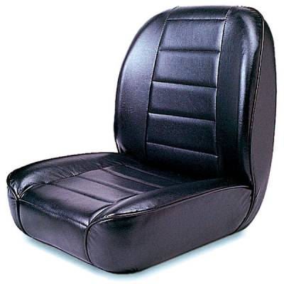 Seats & Upholstery  - Universal Complete Seats - Rugged Ridge - Low-Back Front Seat, Non-Recline, Black, 55-86 Jeep CJ Models