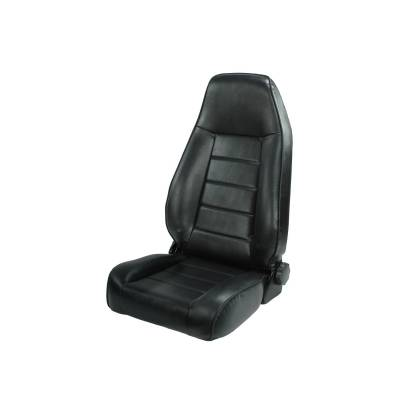 Offroad - Seats & Upholstery - Rugged Ridge - High-Back Front Seat, Reclinable, Black, 76-02 Jeep CJ & Wrangler