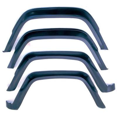 Offroad - Fenders and Flares - Rugged Ridge - 4-Piece Fender Flare Kit, Fits 84-96 Jeep Cherokee