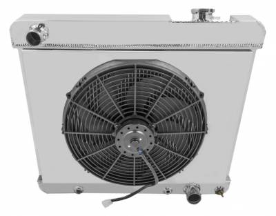 "Cooling System - Fans - Big Dog Auto - Aluminum Fan Shroud and 16"" S Blade Fan Package FS2284"
