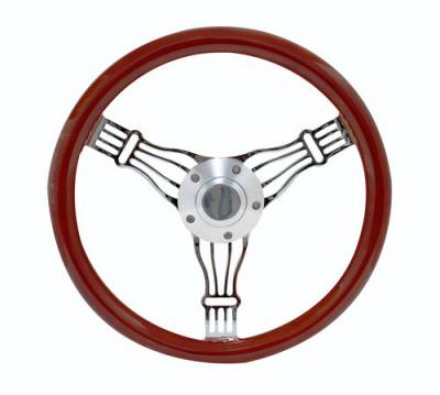 "Forever Sharp Steering Wheels - 14"" Discord Light Wood Steering Wheel"