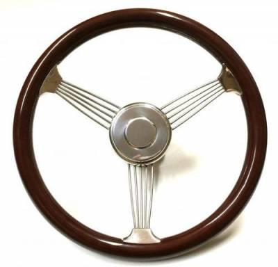 "Interior Accessories - Forever Sharp Steering Wheels - 15"" Banjo Wood Steering Wheel, Light or Dark Finish"