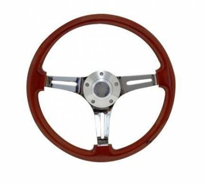 "14"" Wood Steering Wheels - Wood Steering Wheels - Forever Sharp Steering Wheels - 14"" Classic Wood Steering Wheel"