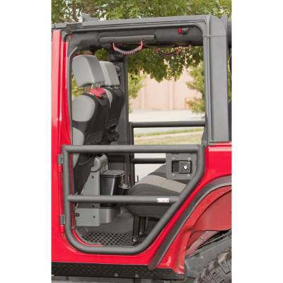 Rugged Ridge - Black Tube Front and Rear Half Doors for 2007 to 2014 Jeep Wrangler JK by Rugged Ridge - Image 3