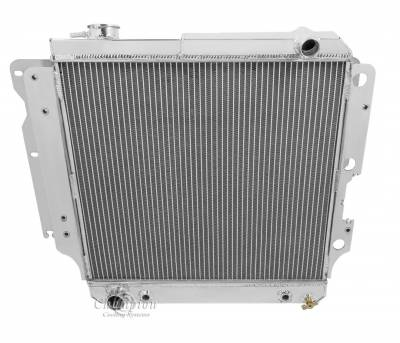 Champion Cooling Systems - Champion Four Row All Aluminum Radiator 87-06 Jeep Wrangler YJ-TJ MC2101