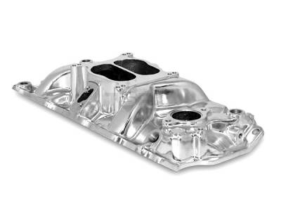 Engine - Intake Manifolds - Big Dog Auto - 1957 to 1995 Small Block Chevy V8 Cyclone Aluminum Intake Manifold Polished
