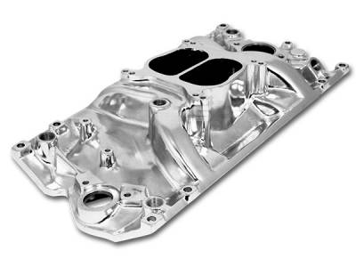 Engine - Intake Manifolds - Big Dog Auto - 1996 & Later Vortec Head Small Block Chevy V8 Cyclone Intake Manifold Polished Aluminum