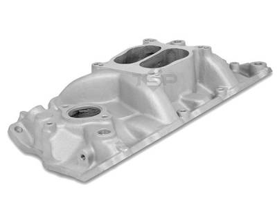 Engine - Intake Manifolds - Big Dog Auto - 1957 to 1995 Small Block Chevy V8 Cyclone Aluminum Intake Manifold Satin Finish