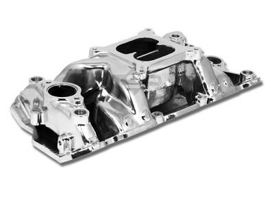 Engine - Intake Manifolds - Big Dog Auto - Polished Aluminum Intake Manifold for 1957-1995 Chevy Small Block