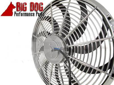 Big Dog Auto - Two Fourteen-Inch Chrome Finish Radiator Cooling Fans & Electric Relay - Image 3