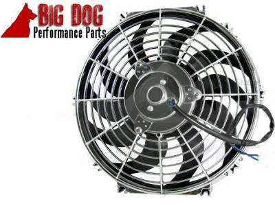 Big Dog Auto - Two Fourteen-Inch Chrome Finish Radiator Cooling Fans & Electric Relay - Image 4