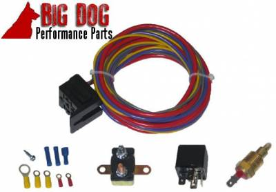 Big Dog Auto - Two Fourteen-Inch Chrome Finish Radiator Cooling Fans & Electric Relay - Image 5