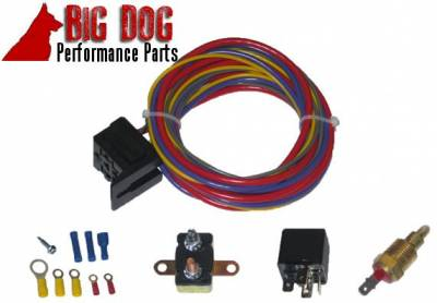 Big Dog Auto - Fourteen-Inch Chrome Finish Radiator Cooling Fan & Electric Relay - Image 5