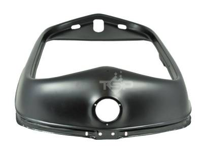 Grilles and Inserts - Ford Grilles - Top Street Performance - 1932 Ford Steel Grill Shell - Black - Smooth Top