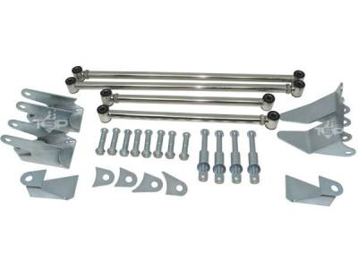 Steering & Suspension - Top Street Performance - 1932 Ford Triangulated 4-Link Rear-end Kit - Plain Stainless Steel