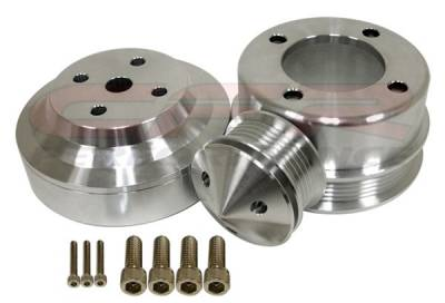 Engine - Pulleys & Brackets - CFR - Serpentine Pulley Set for Ford 5.0 Mustang 1979 to 1993 Polished Billet Aluminum